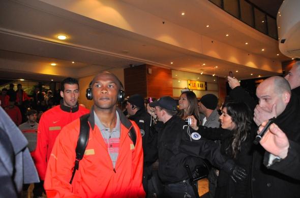 Samuel Eto'o et le Barça à l'hôtel Hilton de Lyon