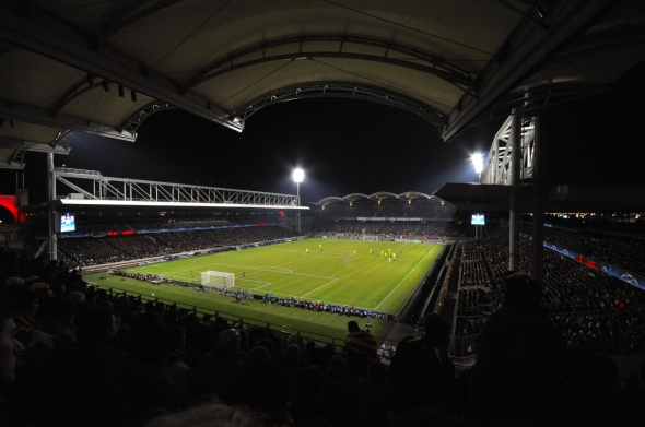 Le stade de Gerland lors d'OL - Barça
