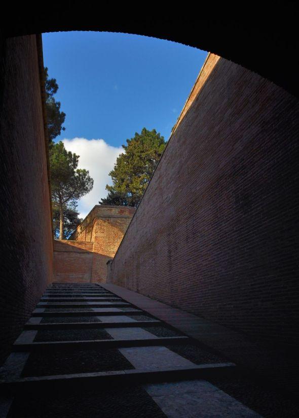 L'accès au Palais des Rois de Majorque.