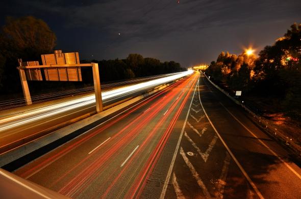 L'autoroute A7, à hauteur de Valence sud, un soir d'août.