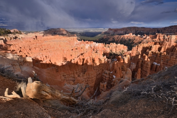 Bryce Canyon gorgeous light storm