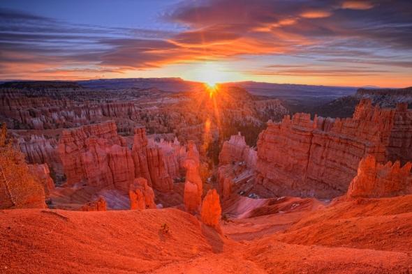 Lever du soleil Bryce Canyon sunrise