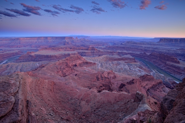Dead Horse Point after sunset
