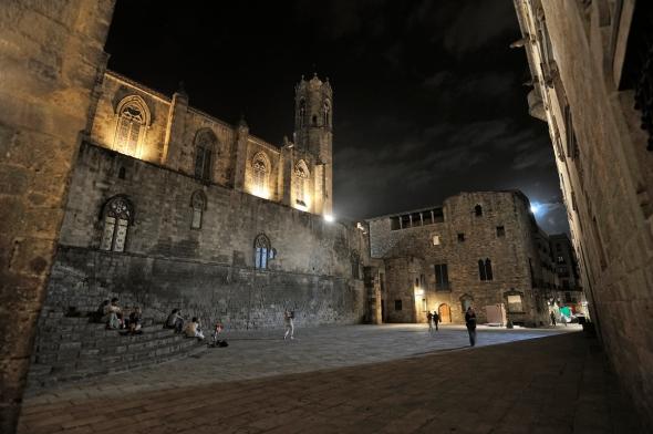 Plaça del Rei Barcelona Palau Reial Major chapelle Saint-Agathe