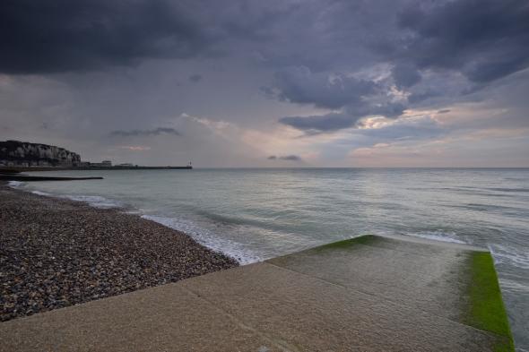 Mers-les-Bains plage après orage