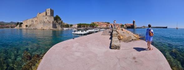 Panorama Collioure été ciel bleu