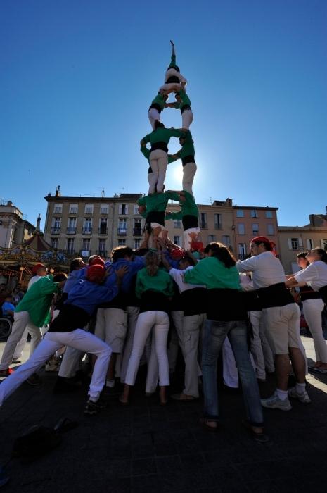 Castelles tradition catalane Perpignan Catalogne