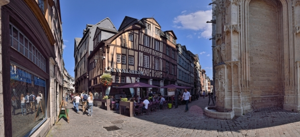 Damiette Martainville Rouen rues panorama vieux Rouen Saint-Maclou