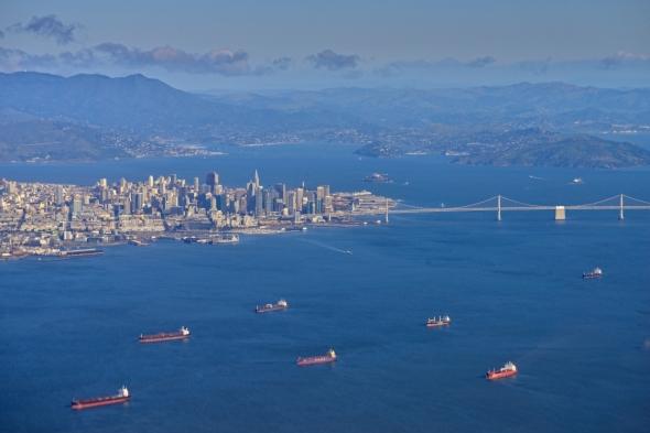 Survol de la baie de San Francisco