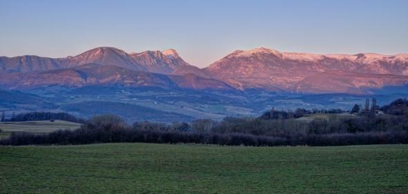 Trois Becs coucher du soleil Drôme