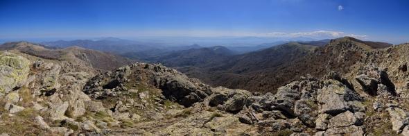 Panorama depuis les Albères côté espagnol