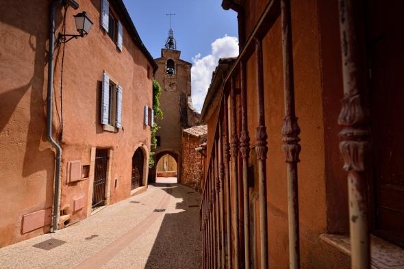 Roussillon dans le Vaucluse Luberon le village des ocres