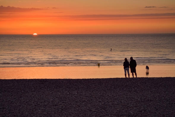 Mers-les-Bains coucher de soleil